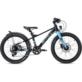 s'cool XXlite EVO Disc 20-7-S Kinderen, black/cyan matt